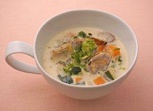 あさりの豆乳みそスープ