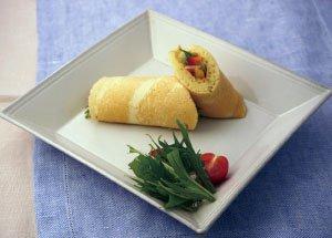 豆乳パンケーキ野菜ロール