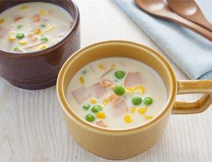 簡単豆乳モーニングスープ
