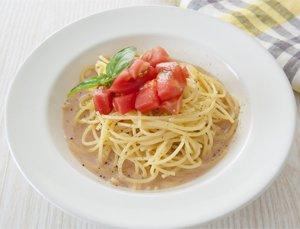 豆乳トマト冷製パスタ