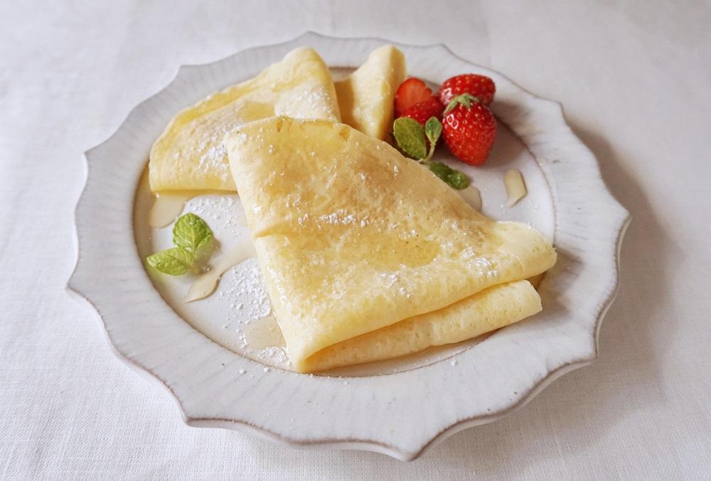 豆乳クレープ~フルーツ添え