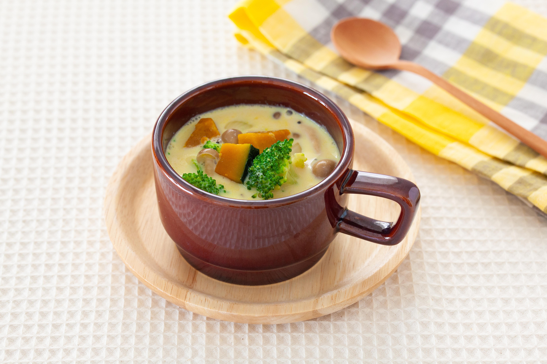 豆乳とかぼちゃのクリームスープ
