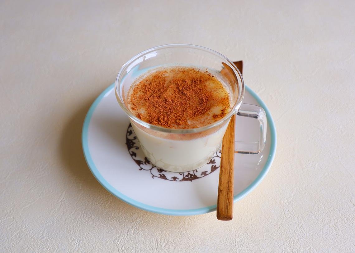 アップルパイ風ホット甘酒豆乳